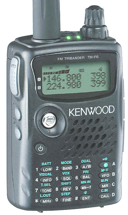 ... Wife Tina gifted me with a new Kenwood TH-F6A (handheld Amateur Radio).